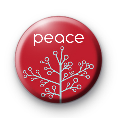 Festive Peace Tree Badge