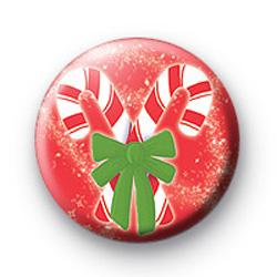 Festive Candy Cane Badge