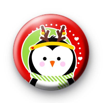 Festive Penguin Red Badges