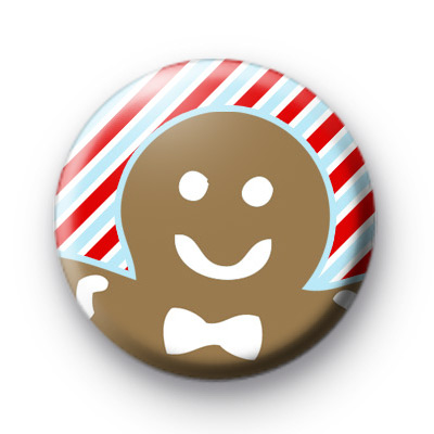 Festive Christmas Gingerbread Man badge