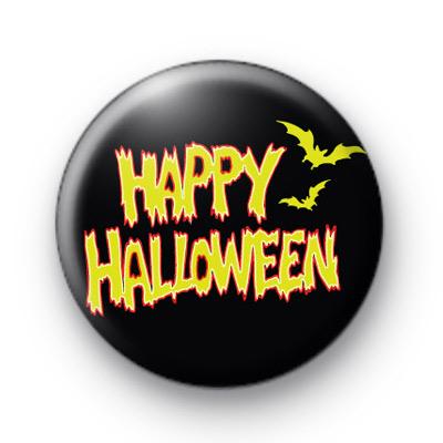 Happy Halloween Flames Badge