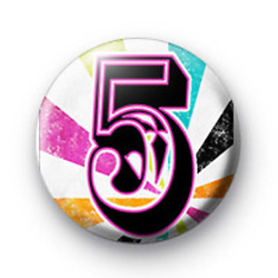 Number Five 5 badges