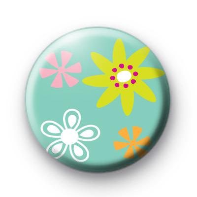 Floral Stamp Badge