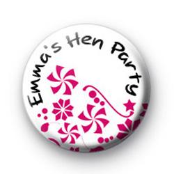 Custom flower Hen party badges