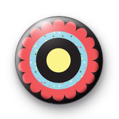 Flower POP Button Badge