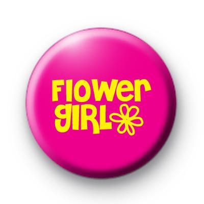 Flower Girl Button Badges