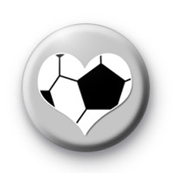 Football Love Heart Badges