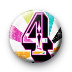 Number Four 4 badges