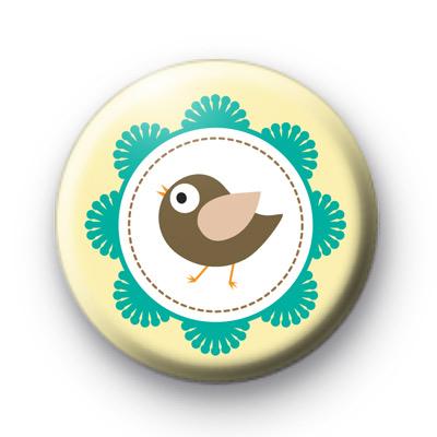 Cute Framed Bird Button Badges