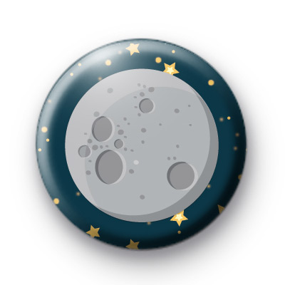 Full Moon Pin Button Badge