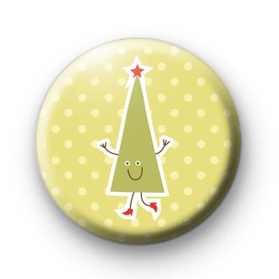 Funny Xmas Tree Badge