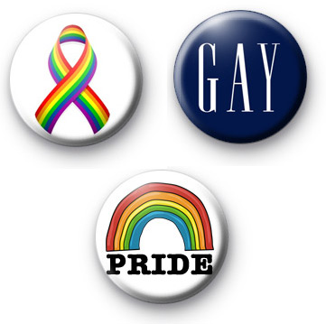 Set of 3 Rainbow Gay Badge Pack