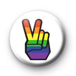 Rainbow Peace Hand badges