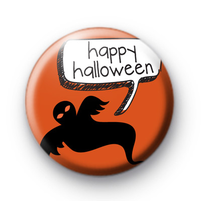 Ghostly Happy Halloween Badges