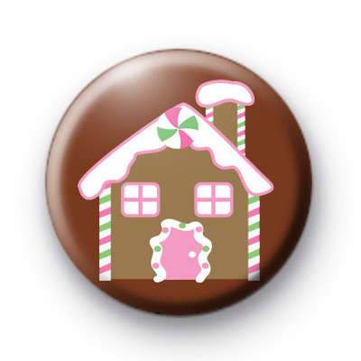 Gingerbread House Festive Badge