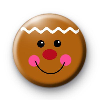 Gingerbread Man Face Badge