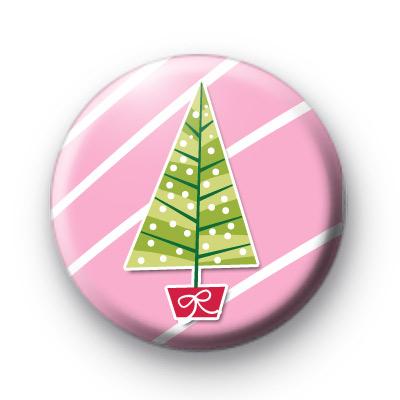 Pink Girly Christmas Tree Badges