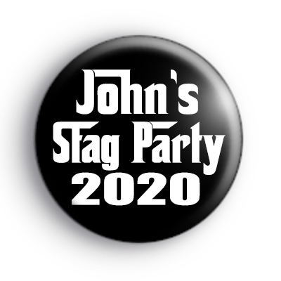 Godfather Style Stag Party Badge