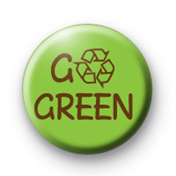 GO GREEN Recycle badge