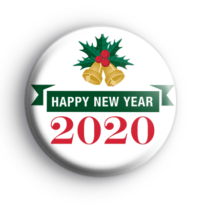 Happy New Year 2020 Bells Badge : Kool Badges