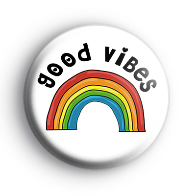 Good Vibes Rainbow Badge