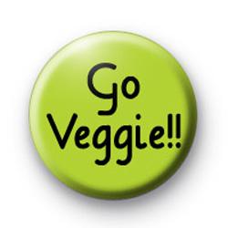 Go Veggie Button Badges