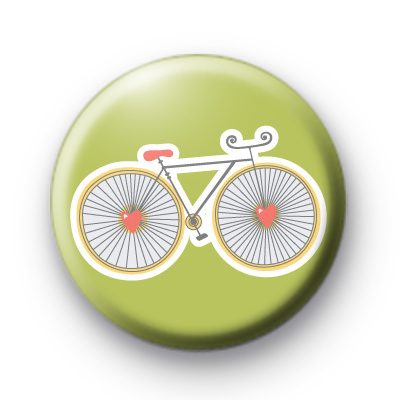 Green Bike Pin Button Badge