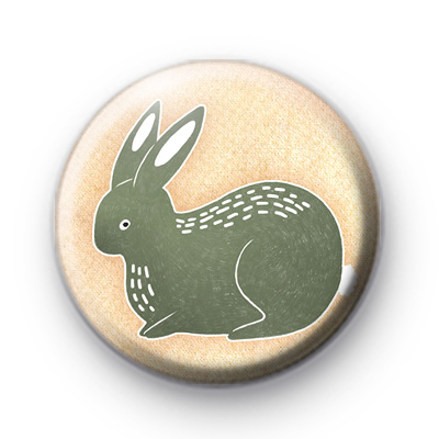 Green Bunny Button Badge