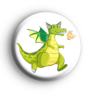 Fire Breathing Green Dragon Badge
