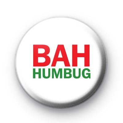 Green and Red BAH Humbug Badge