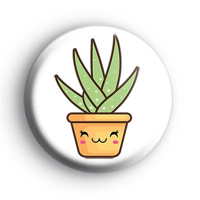 Green Cute Succulent Plant Badge