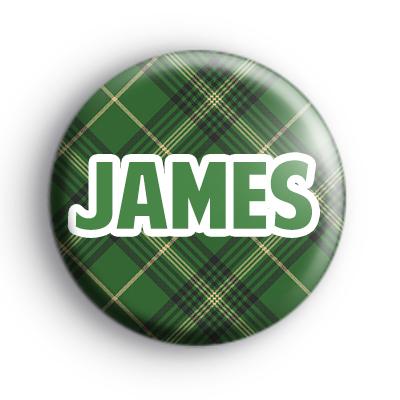 Custom Green Tartan Name Badge