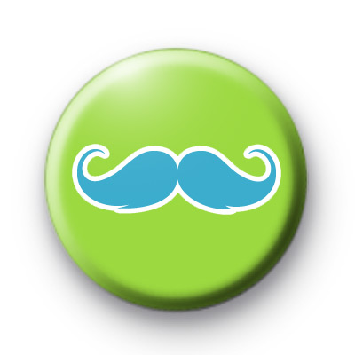 Green and Blue Moustache Badge