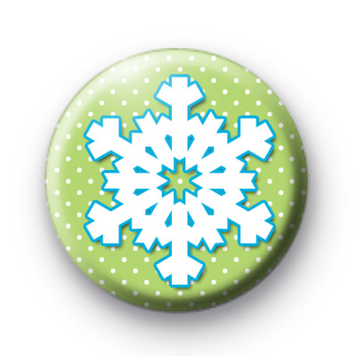 Green and Blue Snowflake Badge