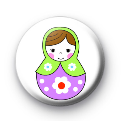 Green and Purple Russian Doll badge