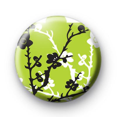 Green Blossom Flower Badge
