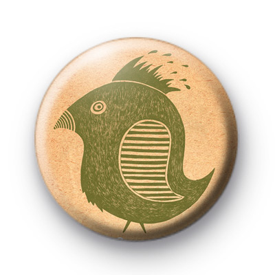 Cute Green Birdy Bird Badges