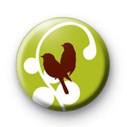 Cute Love Birds Badge