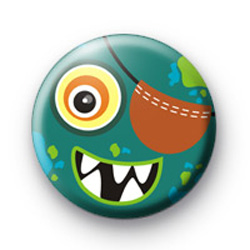 Green Monster Eye Patch Badges