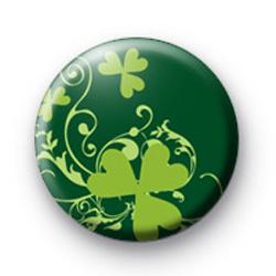Green Shamrock Pattern badge