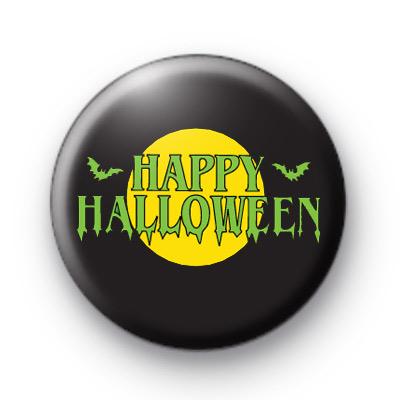 Green Slimy Happy Halloween Badge