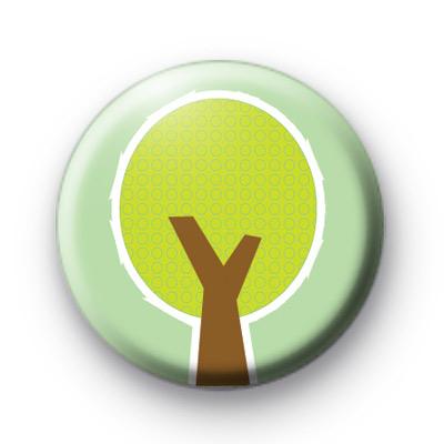 Cute Cartoon Green Tree Badge