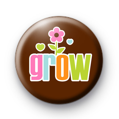 Grow Floral Button Badge