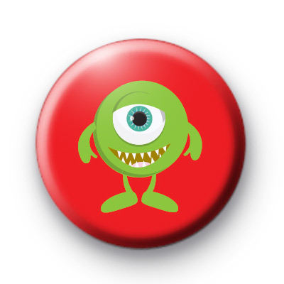 One Eyed Green Monster Button Badges