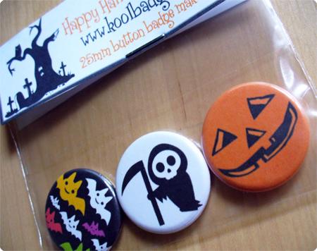Halloween Set of 3 Badges