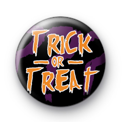 Trick or Treat Orange Halloween Badge