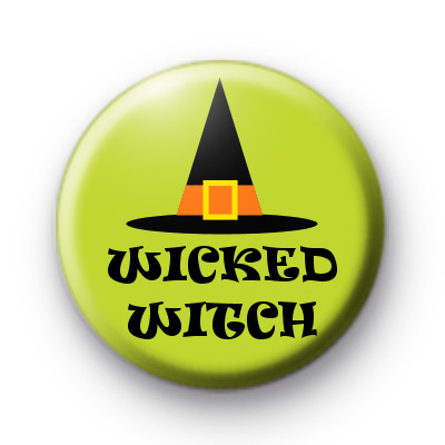 Halloween Wicked Witch Button Badges