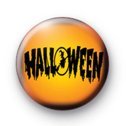 Spooky Halloween Sign Button Badges