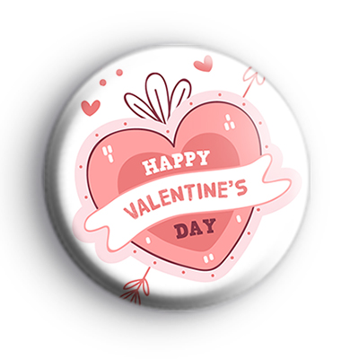 Handdrawn Happy Valentines Day Badge
