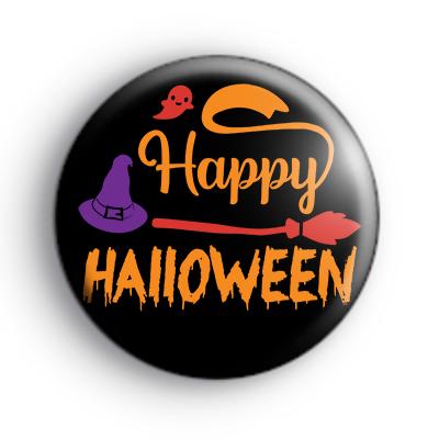 Happy Halloween Greeting Badge